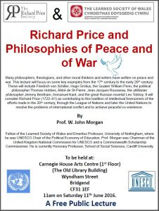 Richard Price and philosophies of peace and of war @ Carnegie House Arts Centre